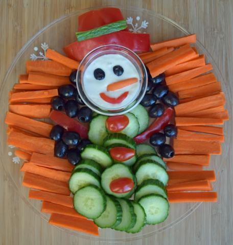 vegetable snowman