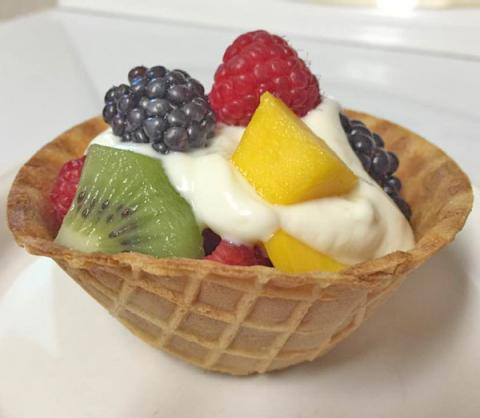 Waffle Fruit Cup