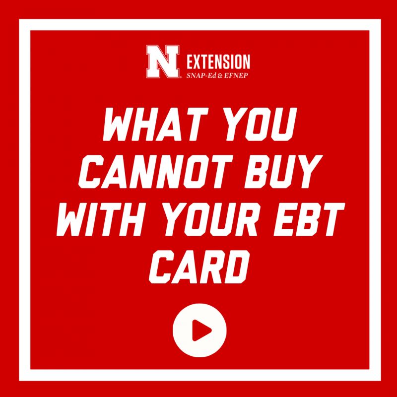 What you cannot buy with your ebt card